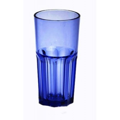 """Verre incassable """"Rétro"""" 22 cl bleu"""