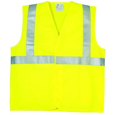 Gilet haute visibilité bande baudrier jaune taille XL