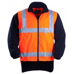 Veste polyester haute visibilité orange/noir taille M
