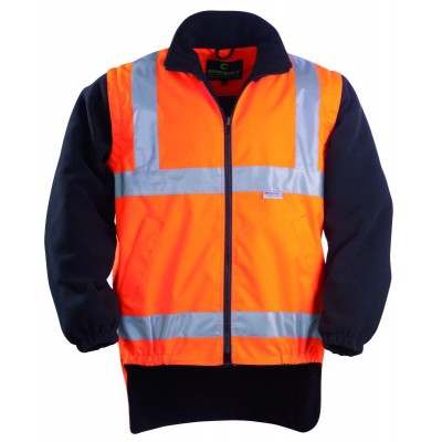 Veste polyester haute visibilité orange/noir taille L