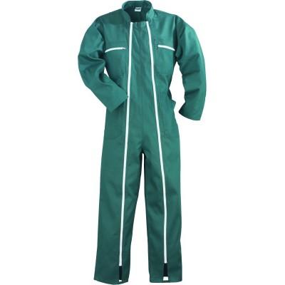 Combinaison 2 zips polycoton vert taille L/48-50