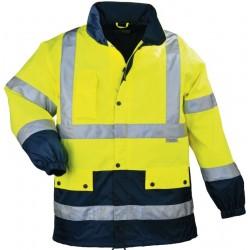 Veste haute visibilité jaune/marine