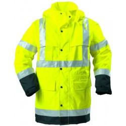 Ensemble de pluie haute visibilité jaune/noir