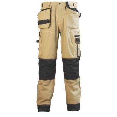 Pantalon coton/polyester sable