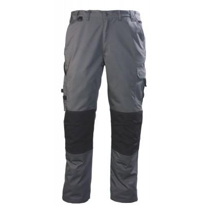 Pantalon coton/polyester gris/noir