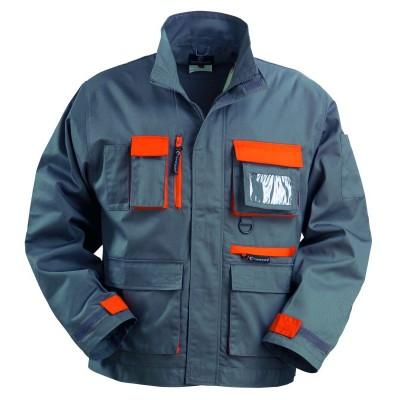 Veste de travail coton/polyester gris/orange