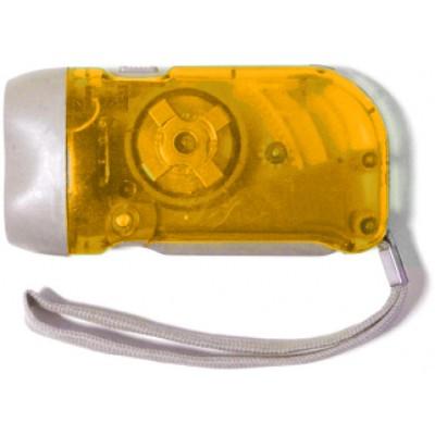 LAMPE DYNAMO A PILES ORANGE