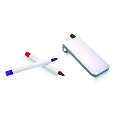 Ensemble 4 stylos en coffret blanc