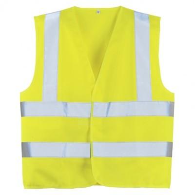 Gilet de sécurité baudrier jaune fluo