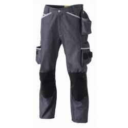 Pantalon de travail molinel 1880 bleu jean avec genouillères