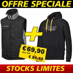 Pack gilet de travail + sweat