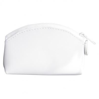 Porte-monnaie zippé PVC blanc brillant