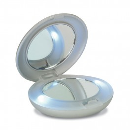 Double miroir avec lumière LED