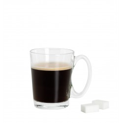 Mug en verre transparent 25 cl