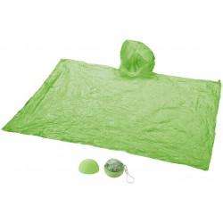 Poncho de pluie danss emballage rond vert