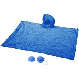 Poncho de pluie dans emballage rond bleu