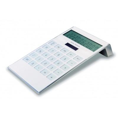 Calculatrice solaire 10 digits blanche