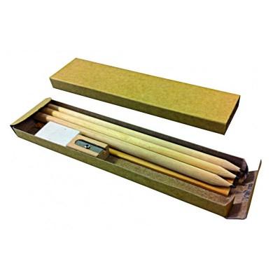 Set de 6 pièces d'écriture bois
