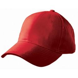 Casquette rouge en coton léger 5 panneaux