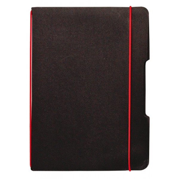 carnet de notes a5 de poche noir avec lastique. Black Bedroom Furniture Sets. Home Design Ideas