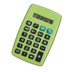Calculatrice de poche 8 digits verte