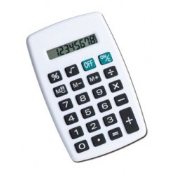 Calculatrice de poche 8 digits blanche