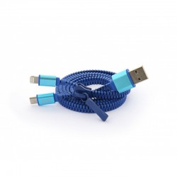 Câble USB 80 cm zippé rechargement