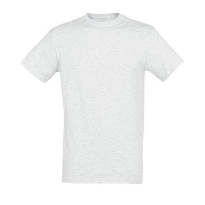 Tee-shirt B&C coton blanc chiné 150 g