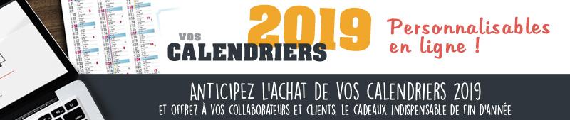calendriers 2019 personnalisés